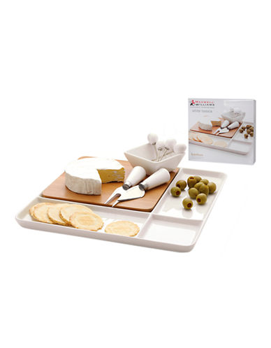 Maxwell & Williams Bamboo Basics Cheese Set-WHITE-One Size