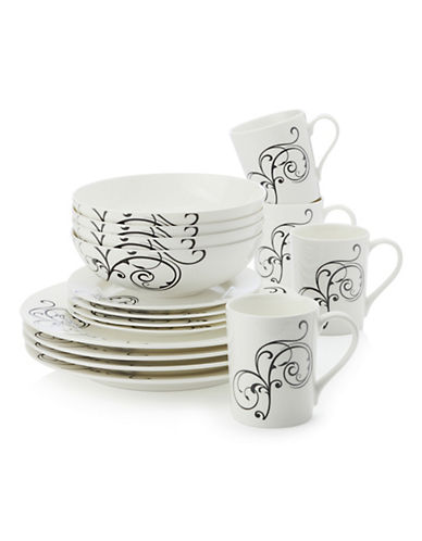 Maxwell & Williams Whisper 16-Piece Dinner Set-WHITE-One Size
