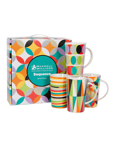 Maxwell & Williams Sequence Set of 4 Mugs-MULTI-One Size 86517343_MULTI_One Size