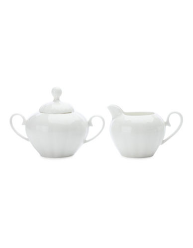 Maxwell & Williams Covered Sugar and Creamer Dishes-WHITE-One Size