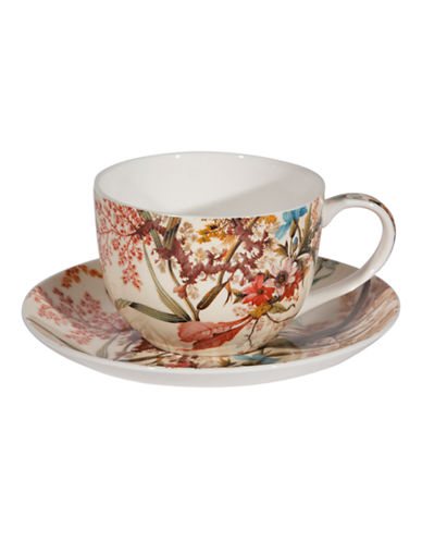 Maxwell & Williams William Kilburn Cottage Blossom Cup and Saucer-MULTI-250 ml 86875475_MULTI_250 ml
