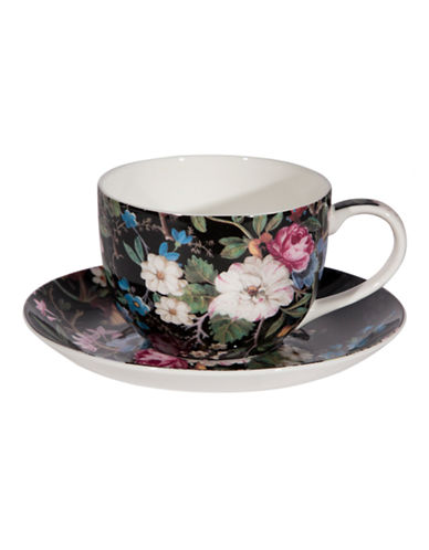 Maxwell & Williams William Kilburn Midnight Blossom Cup and Saucer-MULTI-250 ml 86875482_MULTI_250 ml