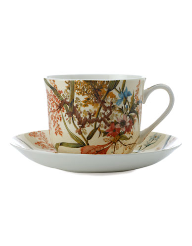 Maxwell & Williams William Kilburn Cottage Blossom Breakfast Cup and Saucer-MULTI COLOURED-One Size 86875476_MULTI COLOURED_One Size
