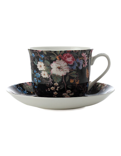 Maxwell & Williams William Kilburn Midnight Blossom Breakfast Cup and Saucer-MULTI COLOURED-One Size 86875483_MULTI COLOURED_One Size