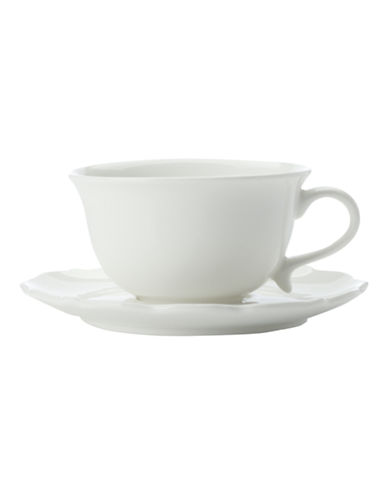 Maxwell & Williams White Rose Teacup and Saucer-WHITE-90 cm