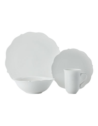 Maxwell & Williams White Rose 16 Piece Dinner Set-WHITE-One Size