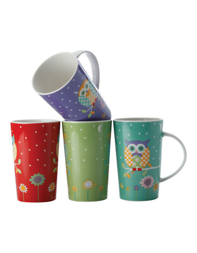 Maxwell & Williams Hoot Hoot Set of 4 Mugs-ASSORTED-One Size
