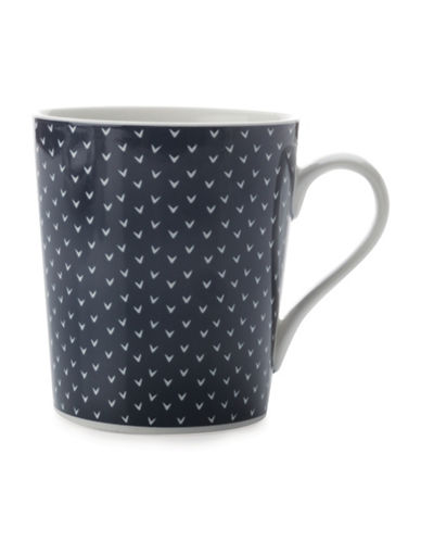 Maxwell & Williams Printed Straight Mug - Set of 4-INDIGO-One Size 89021580_INDIGO_One Size