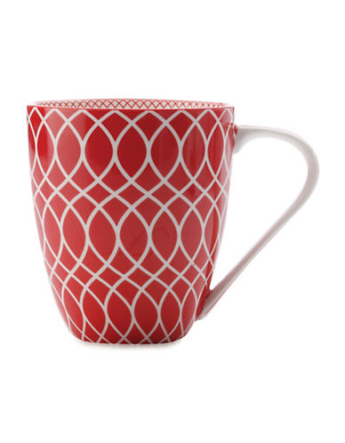 Maxwell & Williams Alcazar Line Porcelain Mug-RED-500 ml