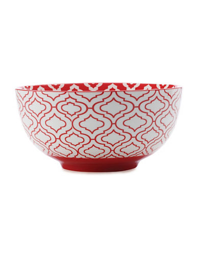 Maxwell & Williams Alcazar Kurv Porcelain Medium Bowl-RED-One Size