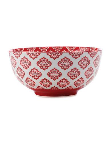 Maxwell & Williams Alcazar Porcelain Medium Bowl-RED-One Size
