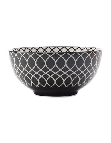 Maxwell & Williams Six-Inch Alcazar Line Porcelain Bowl-BLACK-One Size