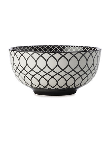 Maxwell & Williams Seven-Inch Alcazar Line Porcelain Bowl-BLACK-One Size