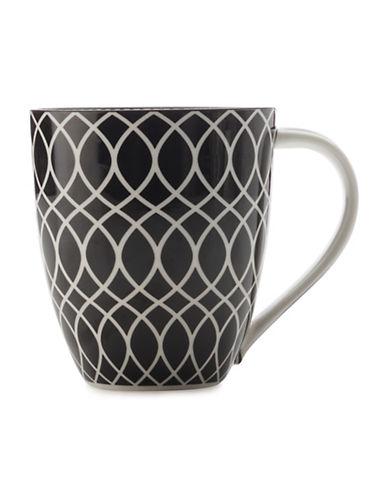 Maxwell & Williams Alcazar Line Porcelain Mug-BLACK-500 ml