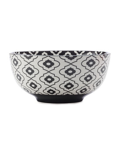 Maxwell & Williams Seven-Inch Alcazar Bold Porcelain Bowl-BLACK-One Size