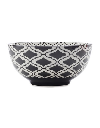 Maxwell & Williams Six-Inch Alcazar Kurv Porcelain Bowl-BLACK-One Size