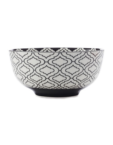 Maxwell & Williams Seven-Inch Alcazar Kurv Porcelain Bowl-BLACK-One Size