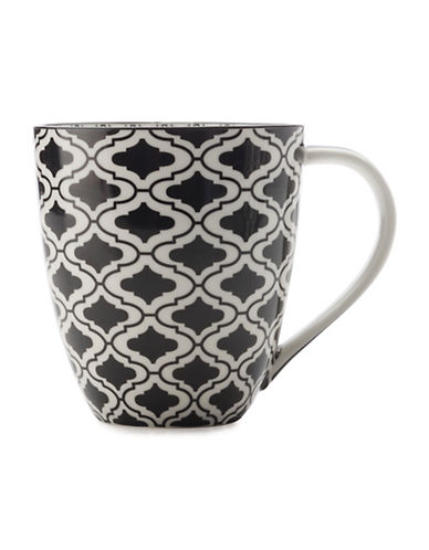 Maxwell & Williams Alcazar Kurv Porcelain Mug-BLACK-500 ml