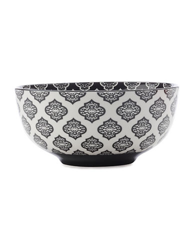 Maxwell & Williams Seven-Inch Alcazar Porcelain Bowl-BLACK-One Size