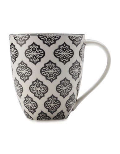 Maxwell & Williams Alcazar Porcelain Mug-BLACK-500 ml