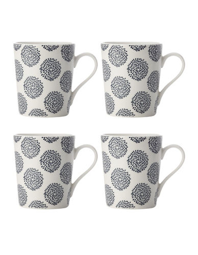 Maxwell & Williams Straight Mug - Set of 4-INDIGO-One Size 89021581_INDIGO_One Size