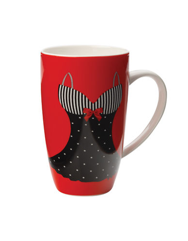 Maxwell & Williams Christopher Vine Mademoiselle Mug-RED-One Size