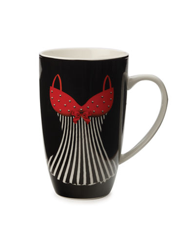 Maxwell & Williams Christopher Vine Mademoiselle Mug-BLACK-One Size