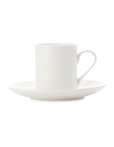 Maxwell & Williams Mansion Demi Tasse Cup and Saucer-WHITE-One Size 87624847_WHITE_One Size