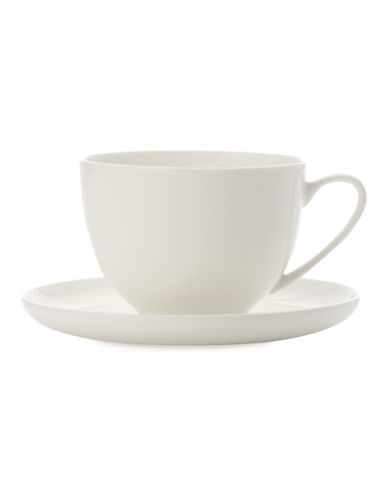 Maxwell & Williams Mansion Teacup and Saucer-WHITE-One Size