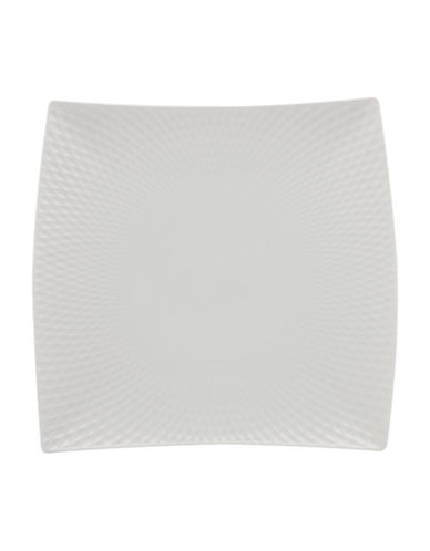 Maxwell & Williams 12-Inch Diamond Porcelain Square Platter-WHITE-One Size