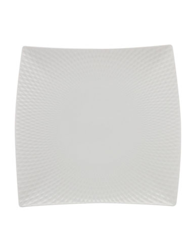 Maxwell & Williams 15-Inch Diamond Porcelain Square Platter-WHITE-One Size