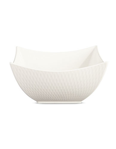 Maxwell & Williams Diamond Square Bowl-WHITE-One Size