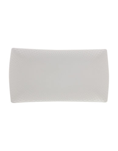 Maxwell & Williams Medium Diamond Porcelain Rectangle Platter-WHITE-One Size