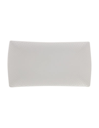 Maxwell & Williams Large Diamond Porcelain Rectangle Platter-WHITE-One Size