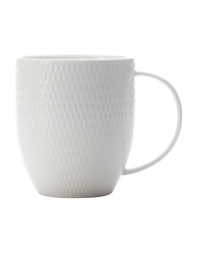 Maxwell & Williams Diamond Porcelain Mug-WHITE-One Size 88097774_WHITE_One Size