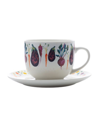 Maxwell & Williams Food for Thought Soup Cup and Saucer Set-EGGPLANT-One Size 88489972_EGGPLANT_One Size