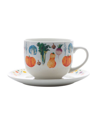 Maxwell & Williams Food for Thought Soup Cup and Saucer Set-SQUASH-One Size