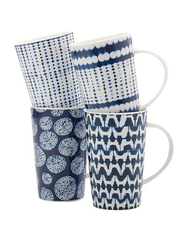 Maxwell & Williams Shibori Four-Piece Mug Set-WHITE-One Size