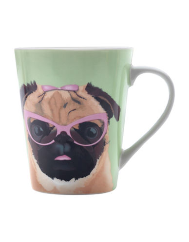 Maxwell & Williams Mob Pug Mug Set-GREEN-One Size