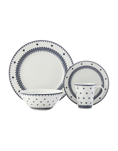 Maxwell & Williams Ponto 16-Piece Porcelain Dinner Set-BLUE-One Size