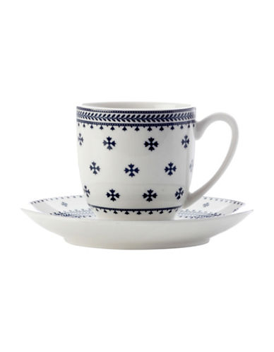Maxwell & Williams Demi Tasse Cup and Saucer Ponto-BLUE-100 ml