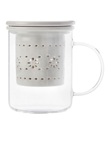 Maxwell & Williams Lille Infuser Mug-GREY-One Size