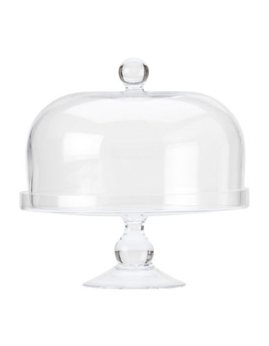 Maxwell & Williams Diamante Hand-Made Cake Stand and Lid 9. 8-Inch-CLEAR-11in