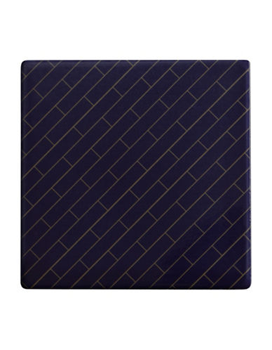 Maxwell & Williams Dark Opulence Avenue Tile Coaster-BLUE-One Size