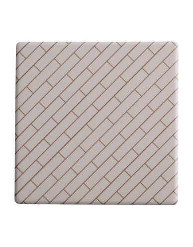 Maxwell & Williams Dark Opulence Avenue Tile Coaster-WHITE-One Size