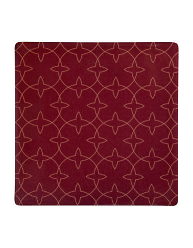 Maxwell & Williams Dark Opulence Aviary Tile Coaster-RED-One Size