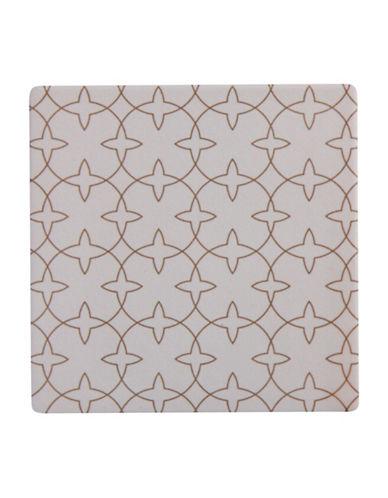 Maxwell & Williams Dark Opulence Aviary Tile Coaster-WHITE-One Size