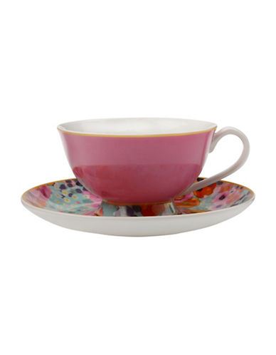 Maxwell & Williams Cashmere Bloems Cup and Saucer-PINK-200 ml