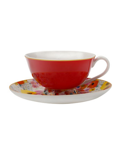 Maxwell & Williams Cashmere Bloems Cup and Saucer-RED-200 ml
