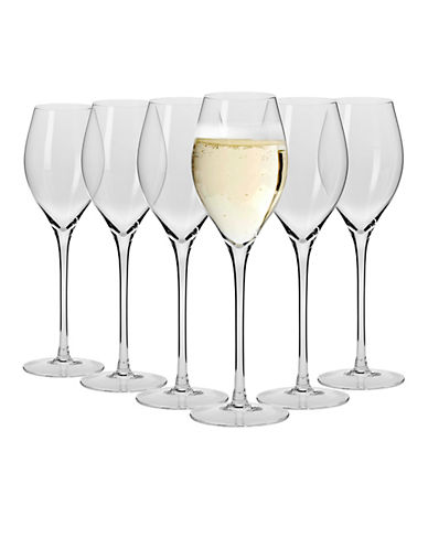 Maxwell & Williams 6-Piece Vino Champagne Glasses-CLEAR-One Size